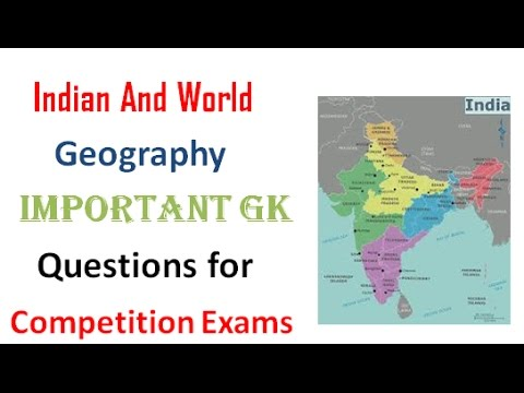 India General Knowledge Indian Geography Questions and ...