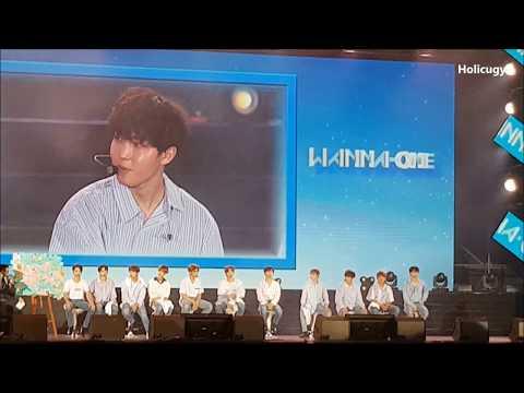171007 워너원 Wanna One Fan Meeting in Taipei - 看排字反應❤❤