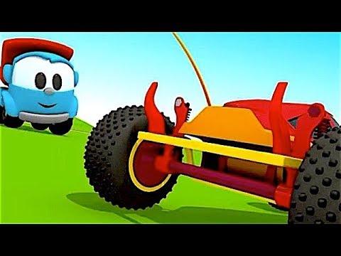 Leo el Pequeño Camión - Carritos para niños - Pequeño Leo - Leo y el Coche de Carreras