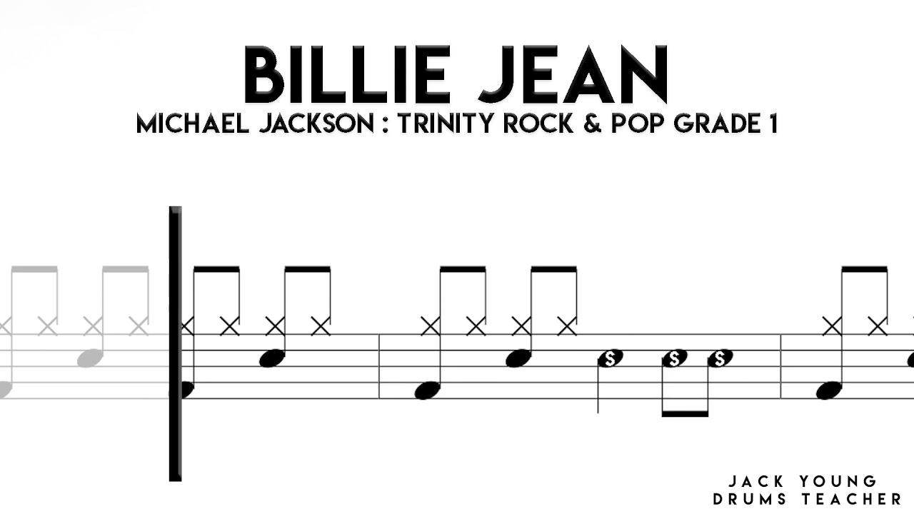 Download Billie Jean   Trinity Rock & Pop Drums Grade 1