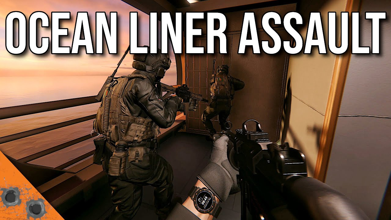 Assaulting a Massive Ship With Teamwork and CQB Tactics