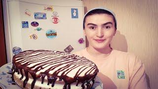 Шоколадный Торт барои Иди Курбон, дар мультиварка бо хамири бисквит, Ачоибот шуд!