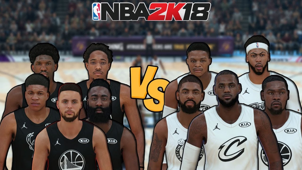 Team Stephen vs. Team LeBron - 2018 NBA All-Star Game - NBA 2K18 - Full  Gameplay b3ee25ce6