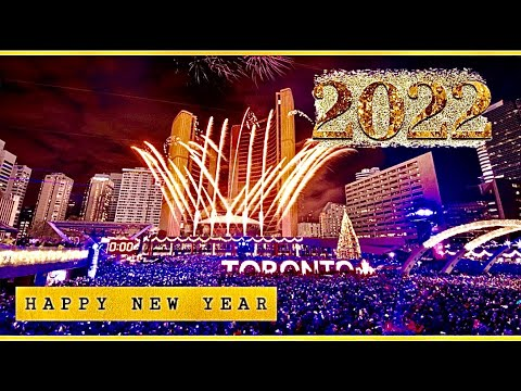 New Year  || Toronto Downtown || Countdown || Fireworks || Celebration.