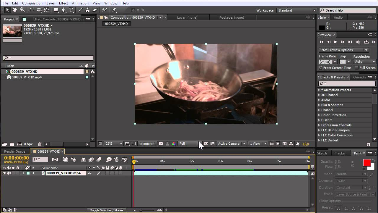 How to crop in Adobe After Effects CS6