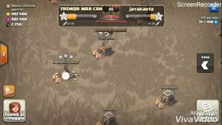 [TREMOR WAR CAN] TH9 vs TH9: Bowler Walk + P.E.K.K.A.s Walk + Mass Valkyries Clash of Clans ITA