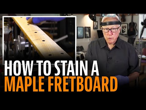 How to stain a Fender maple fretboard