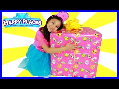 Tiana Opening Giant Present Surprise From Moose Toys Shopkins Happy Places Season 2 Unboxing