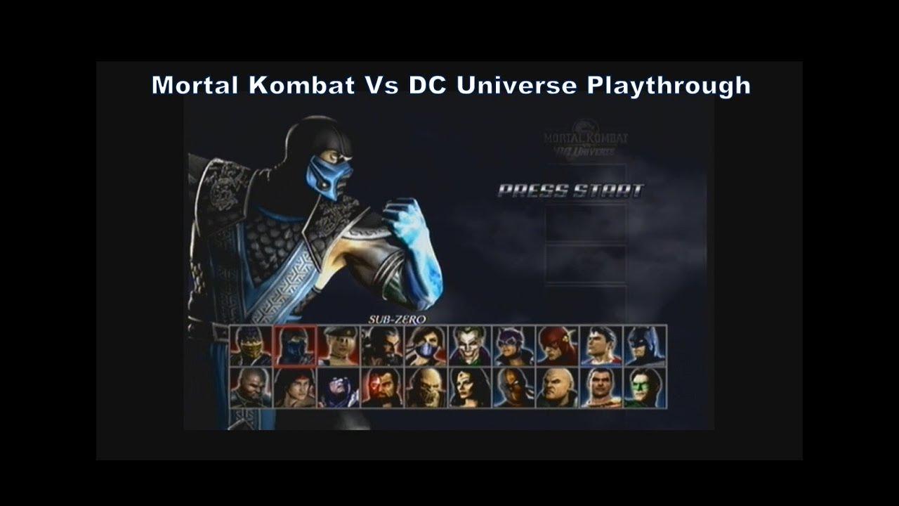 Mortal Kombat Vs DC Universe Sub-Zero Playthrough with no
