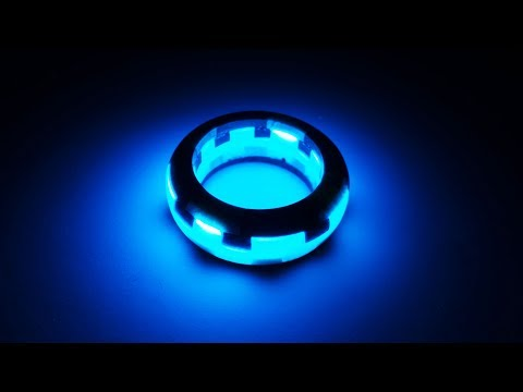 """How to make?  Magic ring """"Blue glow"""" (Epoxy Resin and Wood) 