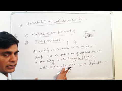 Solution part 2 || solubility of solid in liquid ||  Henry law & application