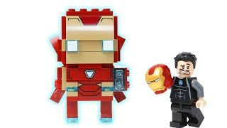 Brick Building Lego Iron Man mark50 - marvel Superhero fun Animation