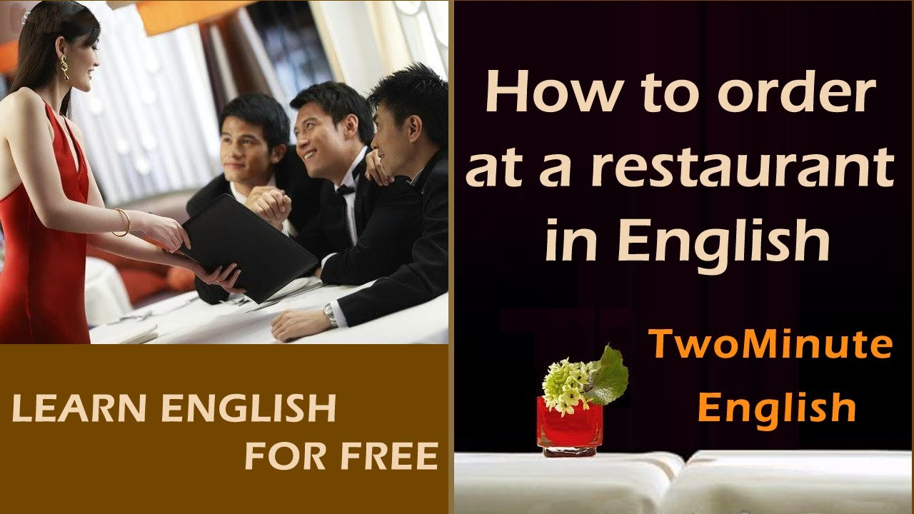 How to order at a restaurant in English - Restaurant Conversation Lesson -  Restaurant English