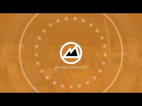 Announcements 12-20-15