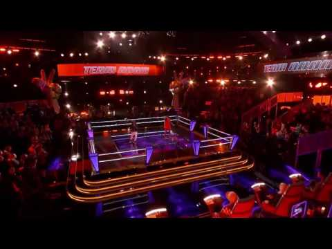 Kellie Douglas Vs Damien - Knock On Wood | The Battle | The Voice 2014