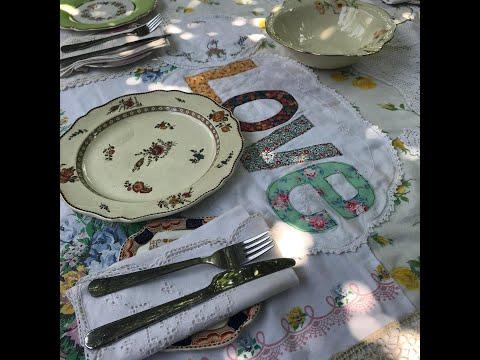 My Vintage Christmas Tablecloth