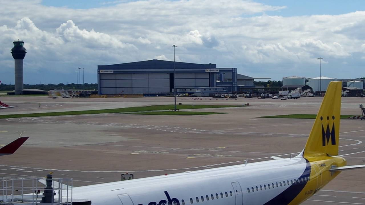 Manchester Airport Terminal 2 Apron Youtube