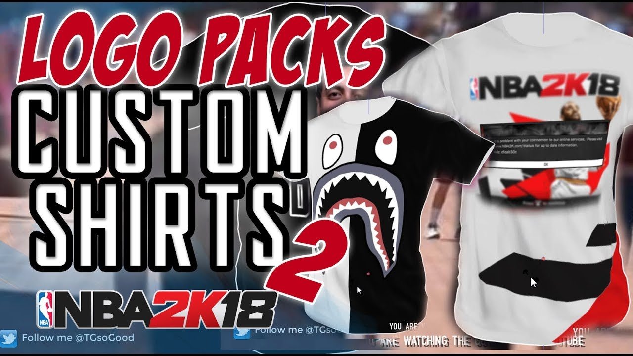 6fa1a5acc NBA 2K18 : Logo Pack 2 for Custom T-Shirts - YouTube