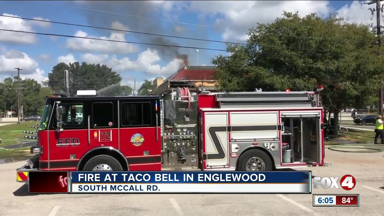Taco Bell catches fire Englewood - YouTube