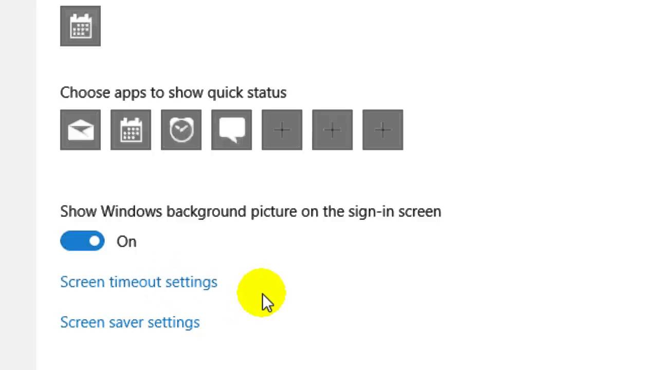 How to turn off screen saver in Windows 10 - YouTube