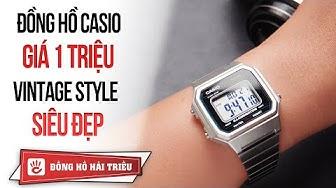 Review đồng hồ Casio điện tử giá 1 triệu vintage style tuyệt đẹp