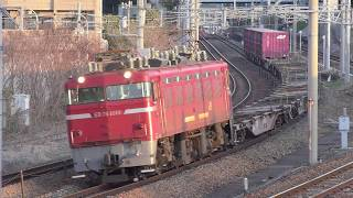 【JR貨物】1087レスジ コキ10両 ED76-1019