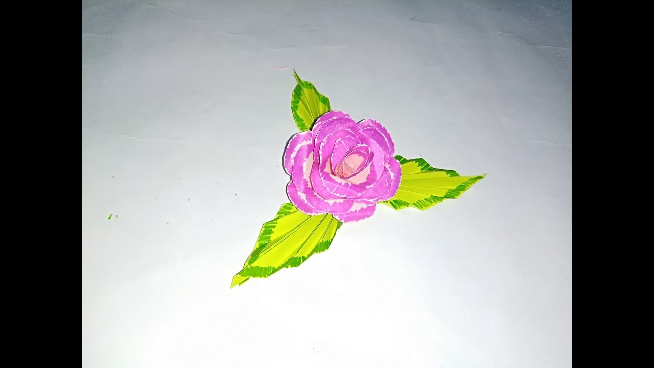 How to make paper flowers making paper rose flower youtube how to make paper flowers making paper rose flower mightylinksfo
