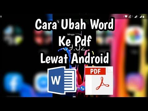 Cara ubah Word Ke Pdf Dengan Hp Android - YouTube