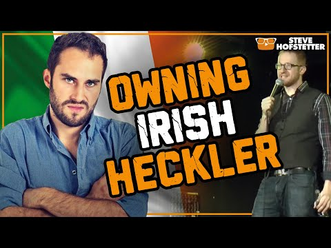 American heckled in Ireland