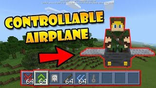 Working Controllable Airplane in Minecraft PE