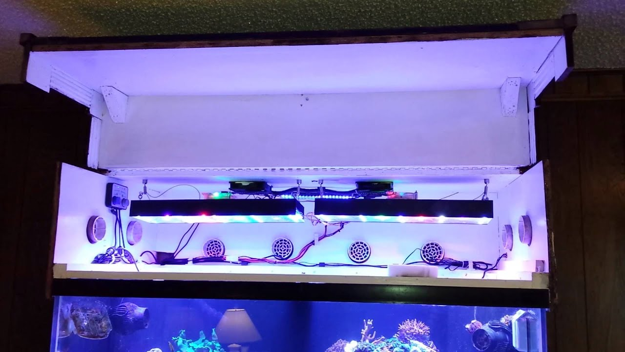 linear actuator installed on 120g reef aquarium canopy - youtube