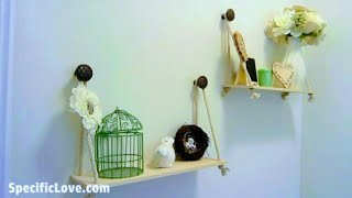 DIY Simple Custom Wood Hanging Shelves - How to build