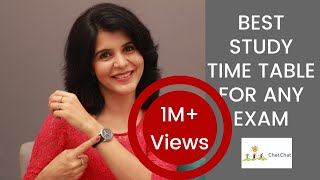 Best Time Table For Studies Before an Exam | How Toppers Make Their Time Table