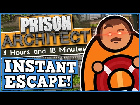 INSTANT PRISON ESCAPE CHALLENGE - PRISON ARCHITECT is a perfectly balanced game with no exploits !?! |