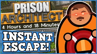 INSTANT PRISON ESCAPE CHALLENGE - PRISON ARCHITECT is a perfectly balanced game with no exploits !?!