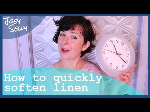 How to soften linen fabric - FAST!