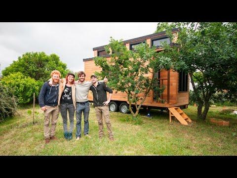 Livraison de la tiny house Escapade à Toulouse - BALUCHON