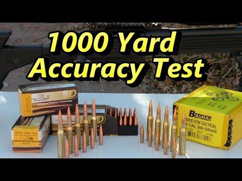 """.338 Lapua Magnum 4"""" Group @ 1000 Yards!"""