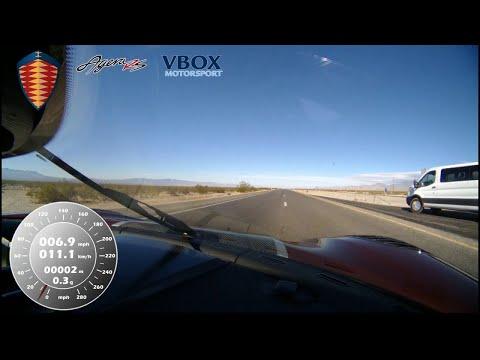 Koenigsegg Agera RS hits 284 mph - VBOX verified