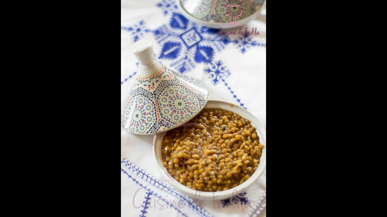 Lentilles la marocaine moroccan lentils - Youtube cuisine marocaine facile ...