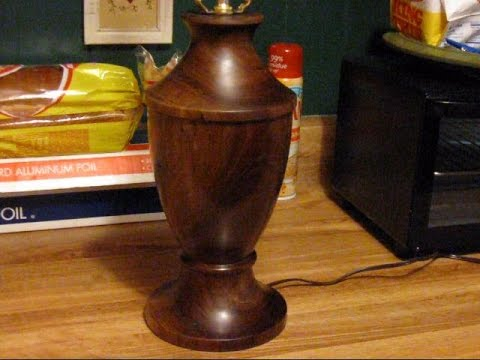 47 woodturning a walnut table lamp part 2 youtube 47 woodturning a walnut table lamp part 2 aloadofball Choice Image