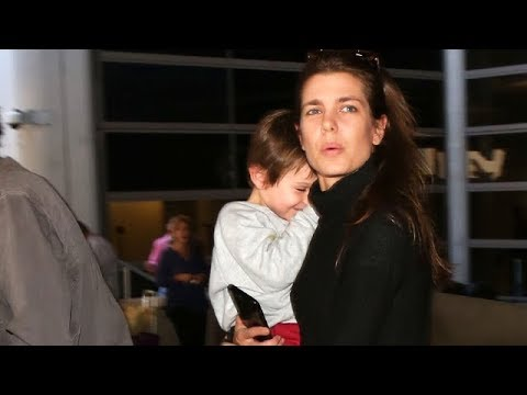 Charlotte Casiraghi, Daughter Of Caroline Princess Of Monaco At LAX
