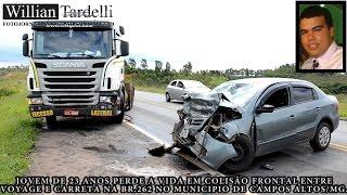 Comando 190 Araxá - Jovem de 23 anos perde a vida em colisão na Br.262 em Campos Altos.