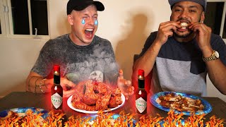 EXTREME SPICY WINGS CHALLENGE *WARNING*