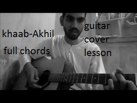khaab - Akhil | GUITAR COVER | LESSON FULL CHORDS | EASY VERSION