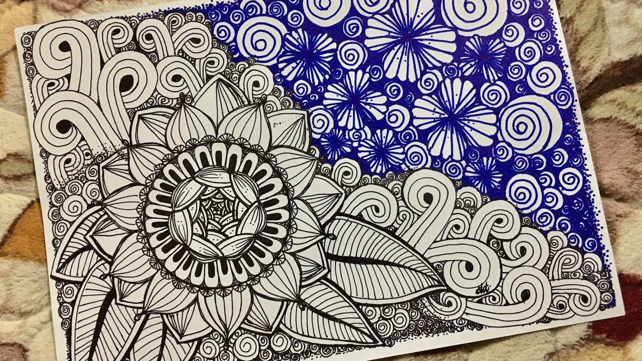ภาพวาดลายเส้น EP.2 ดอกไม้