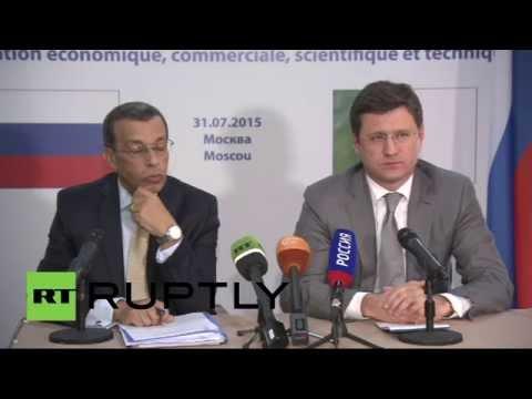 Пресс-подход министра энергетики РФ Александра Новака и министра финансов Алжира