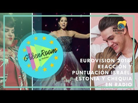 Eurovision 2018 | Reaction to Israel, Estonia & Czech Republic in radio (En Español)