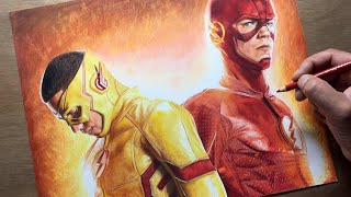 Speed Drawing: The Flash/Kid Flash - DC  - Timelapse | Artology