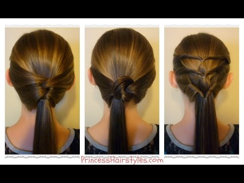 3 quick and easy ponytails -school